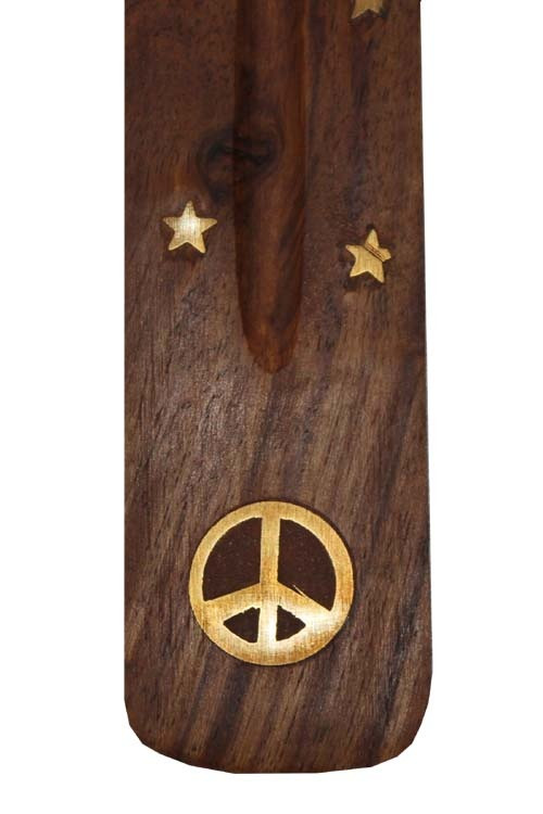 Peace Sign Brass Inlay